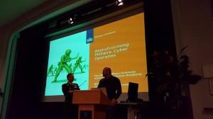 Op het podium met Generaal Ducheine bij de KMA te Breda